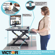 DCX710 - High Rise™ Height Adjustable Standing Desk with Keyboard Tray