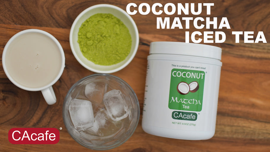 3 Steps To Make Creamy Coconut Matcha Iced Tea!