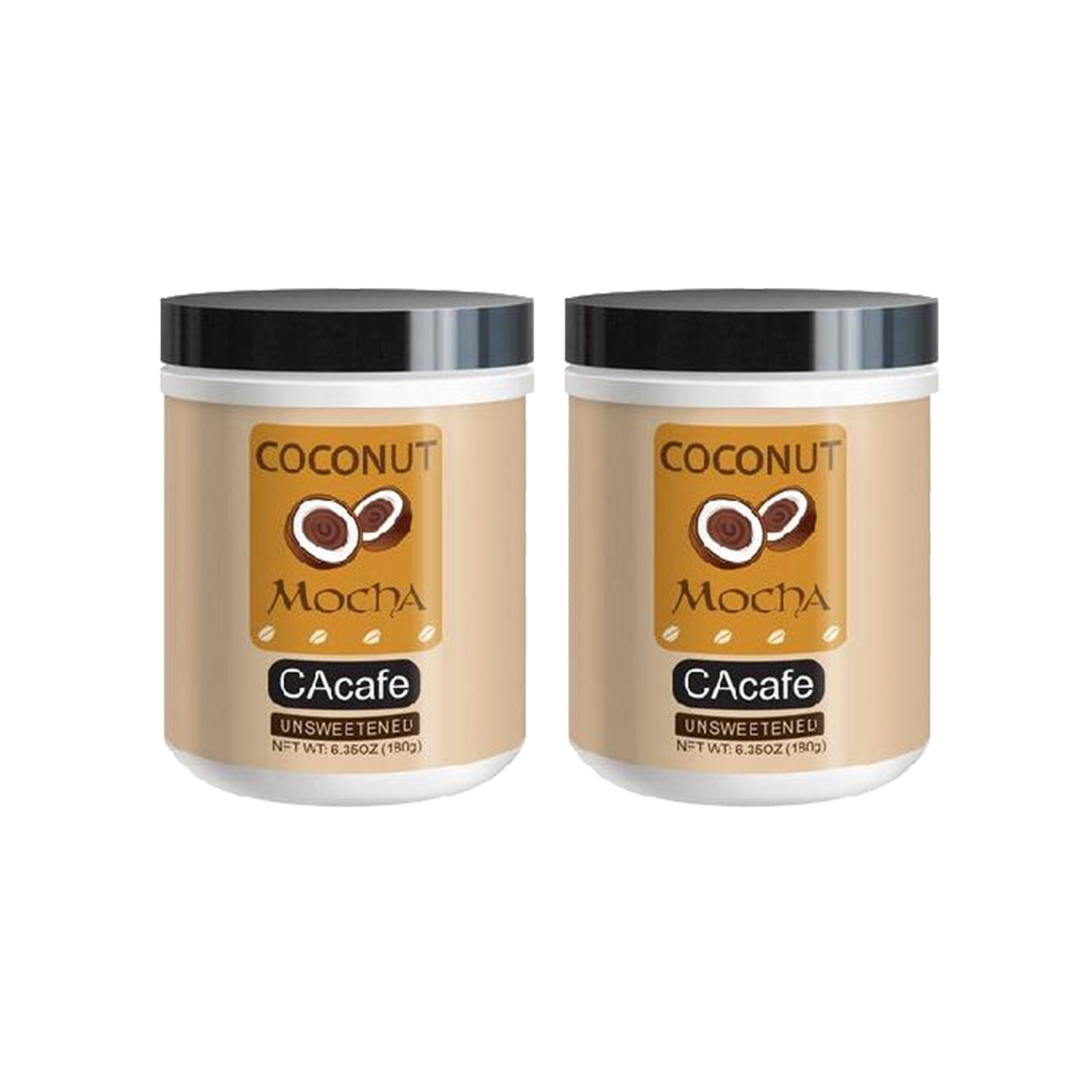 2-Pack Coconut Mocha Unsweetened 6.35oz