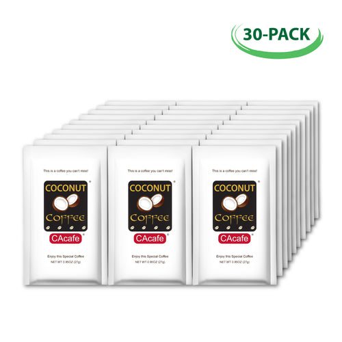 Coconut Coffee 30 Portable Packets Bundle
