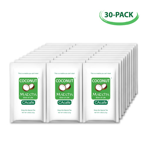 Coconut Matcha Tea 30 Portable Packets Bundle