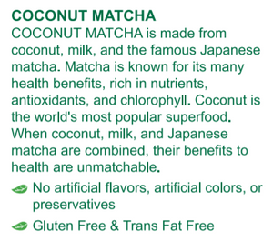 Coconut Matcha Tea 9.5oz