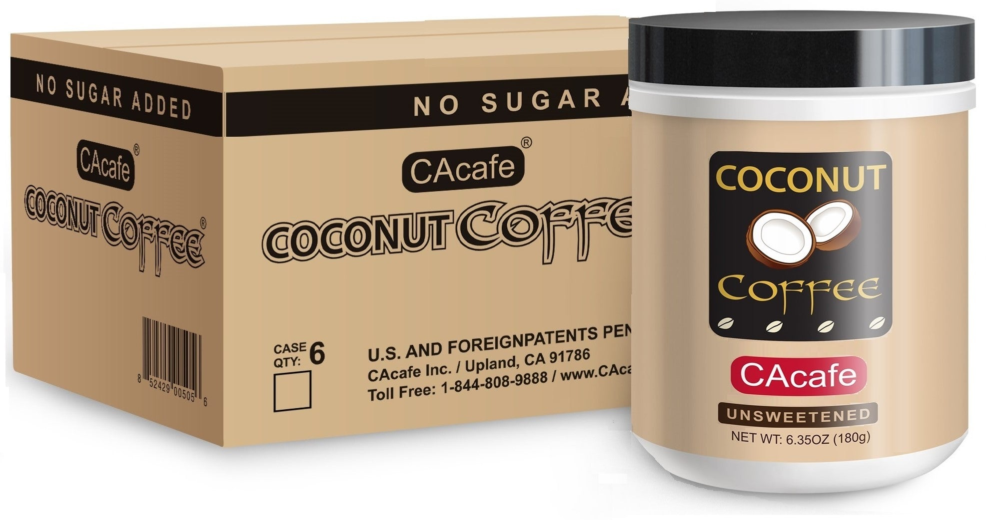 Coconut Coffee Unsweetened 6.35oz (6-Pack)