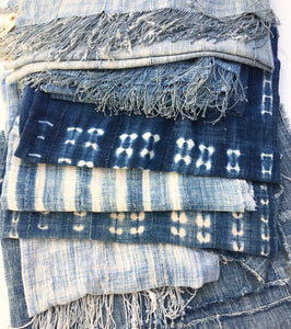 CLEANING VINTAGE AFRICAN INDIGO AND MUD CLOTH TEXTILES