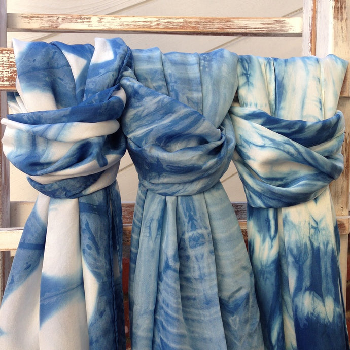 SHIBORI INDIGO DYE MARATHON AT THE STUDIO