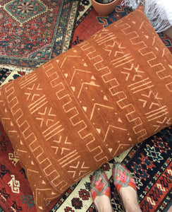 King Size Mud cloth Floor Pillow or Dog Bed, 26 x 36 inch Boho Pillow