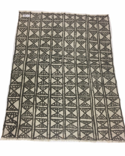 Antique African mud cloth, light Brown earth colors, Vintage textile
