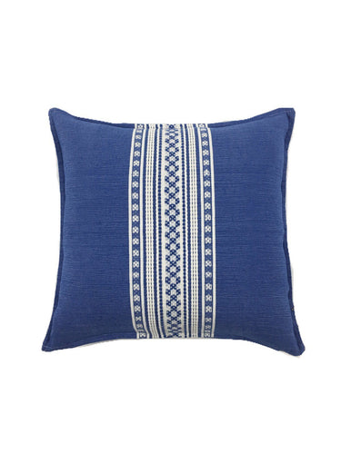 Mexican pillow cover, Blue White, Bohemian, Global Style Home Decor, All Cotton