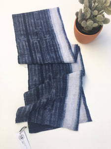 Midnight Blue and White Batik Fabric, Boho Style Fabric, Asian Hill Tribe, Completely hand crafted