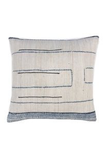 Chinese Hill Tribe Pillow Cover, Vintage Hemp, Hand Made Batik pattern