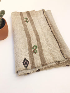 Rustic Style Runner, Laundered Kilim Vintage Rug, Natural and Brown Turkish Rug