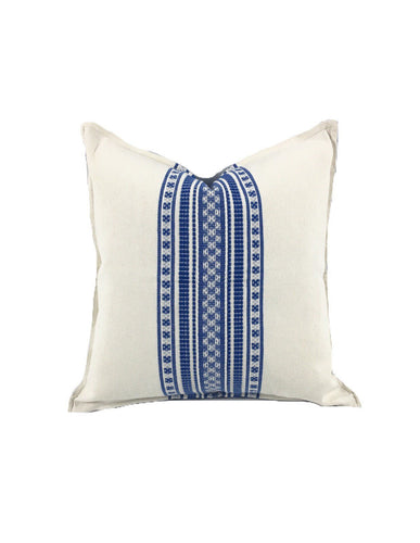 Mexican pillow cover, Blue Bohemian, Global Style Home Decor, All Cotton