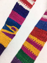 Hand Loomed multi color Strapping, white/multi color design, 2.5 Yard Piece. Guatemalan textile