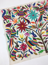 Animal, Bird, and Floral Otomi Wall Art Textile from Mexico, Hand-embroidery, A28