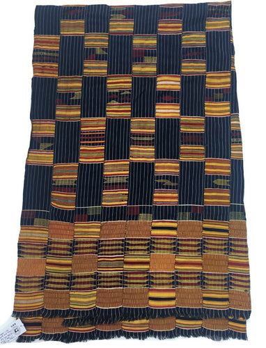 Ewe Cloth, Collectible African textile, Blue & Yellow Color, Vintage, mud cloth