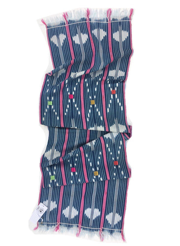 Mud Cloth, Pink and Indigo Blue Vintage African Baule Cloth