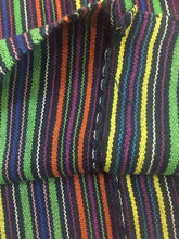 Multicolor Vintage Guatemalan Poncho with Hand embroidery, One of a kind Collectible textile