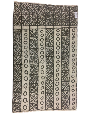 Bogolanfini, Collectible Antique African mud cloth, Brown colors, Vintage African textile