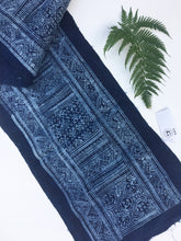 Batik Cloth, Vintage Indigo Batik Hemp Fabric, Boho Style Fabric, Dong Hill Tribe, Asia
