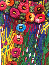 Vintage Guatemalan Huipil with Hand embroidery, One of a kind Collectible textile