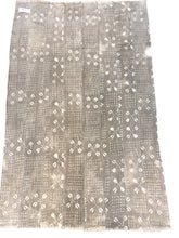 Rustic Antique African textile, Taupe and natural Color Bogolan