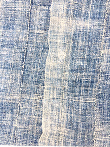 Antique Mossi, Soft Faded Mud Cloth, Indigo Textile, Vintage African throw