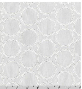 Bubbles Embroidered Shirting Fabric, Cotton Shirting
