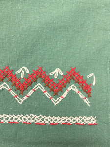 Vintage Mexican Tea Towel with hand embroidery, All cotton