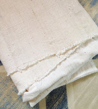 "White Mud Cloth, Pre-washed, Natural/Oyster color: 58 inches x 39""/40 inches"