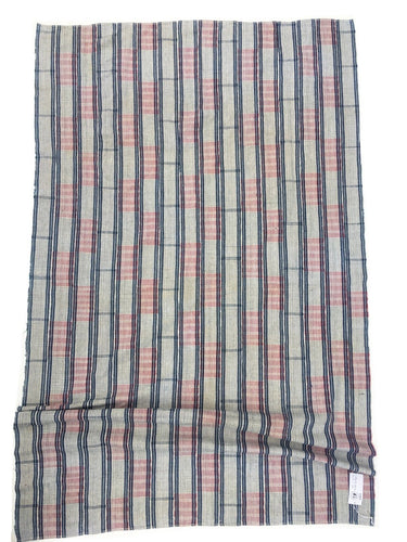 African Ewe Cloth, Collectible textile, Red white and blue plaid, Vintage Mudcloth