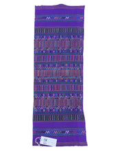 Purple Guatemalan Fabric, embroidery, Hand Loomed Guatemala, multi color motifs