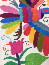 Otomi Textile from Mexico, Otomi Embroidery, Hand-Embroidered on Ivory Cotton, A8