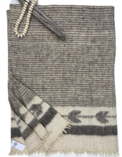 Gray Wool Chamarra blanket from Guatemala, Momos Textile, Homespun woolen, Natural Dyes.