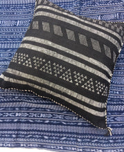 Black and White Cactus silk, Vintage Moroccan pillow cover, Bohemian, Sabra silk