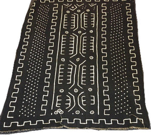 Hand made Black Mud Cloth Tibal Print, Made in Mali, Africa. Bogolanfini,