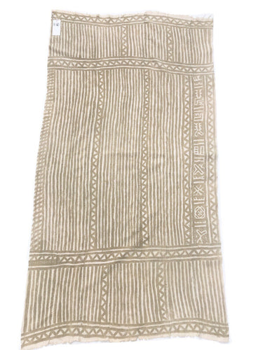 Collectible Antique African textile, Taupe and natural Color Bogolan, Vintage African textile
