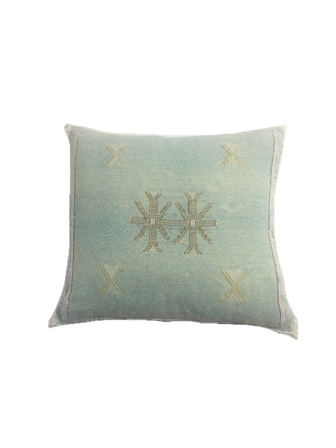Global style Cactus silk, Vintage Moroccan pillow cover, Home Decor, Sabrasilk