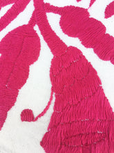 Pink Otomi, Mexican Embroidered Textile. Casual Style, Hand-embroidery on Ivory Cotton