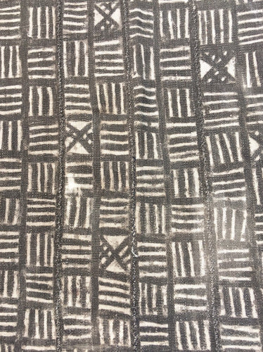 Collectible Antique African mud cloth , Taupe and natural Color Bogolan textile