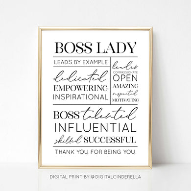 Boss Lady - DIGITAL PRINT