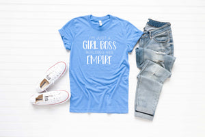 I'm Just a Girl Boss Building Her Empire Unisex Tee