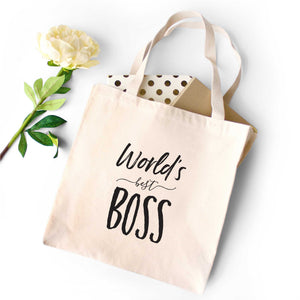 World's Best Boss Tote Bag