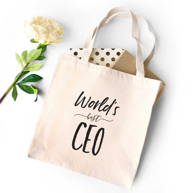 World's Best CEO Tote Bag