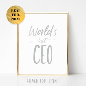 World's Best CEO Real Foil Print