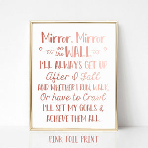Mirror Mirror on the Wall Inspirational Real Foil Print