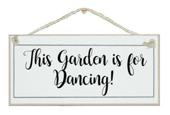 This garden is for dancing