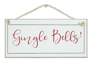 Gingle bells sign