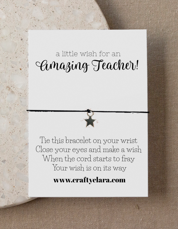 Amazing Teacher/TA Star Bracelets