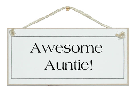 Awesome Auntie!