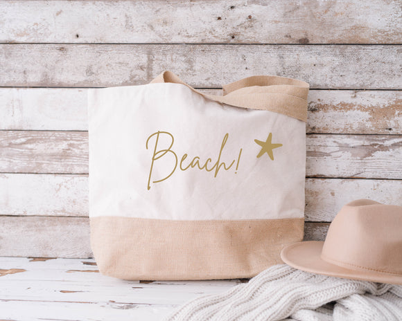 Life better at the beach...Natural Beach Bag